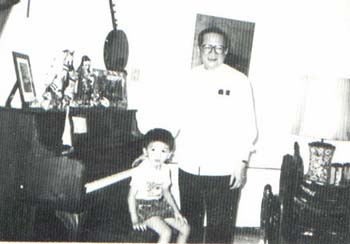 Young Cardinal Thuan with his father